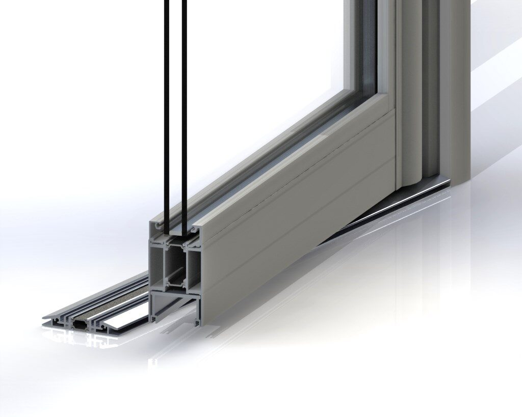 Jack Aluminium Commercial aluminium door cross section