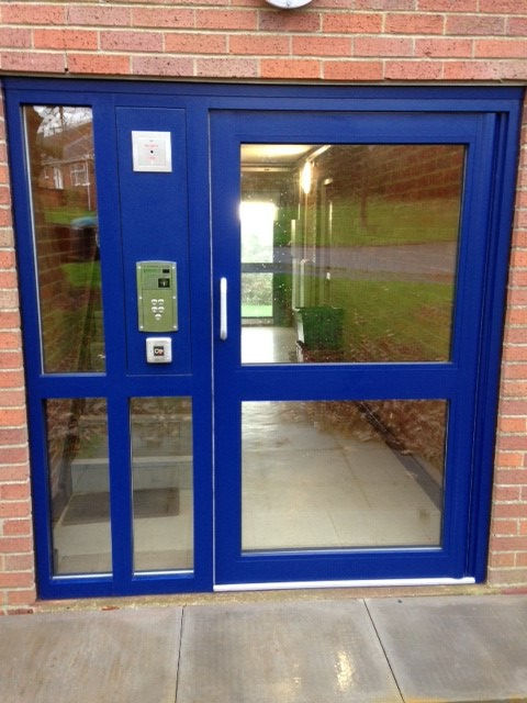 Remote Access Commercial Aluminium Door from Jack Aluminium