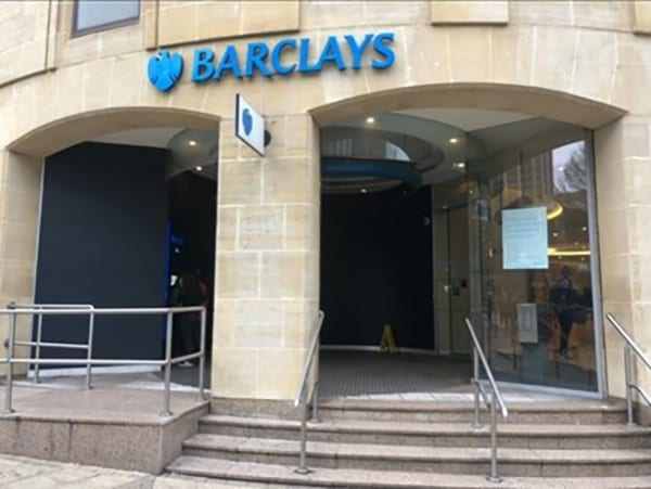 Barclays Bank Birmingham fitted with Jack Aluminium JD47 2