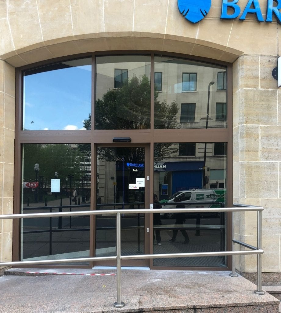 Barclays Bank Birmingham fitted with Jack Aluminium JD47 3 - Copy