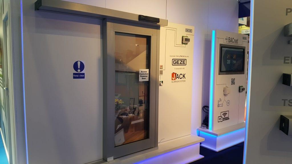 PAS24 Automatic Sliding Door from Jack Aluminium and Geze UK